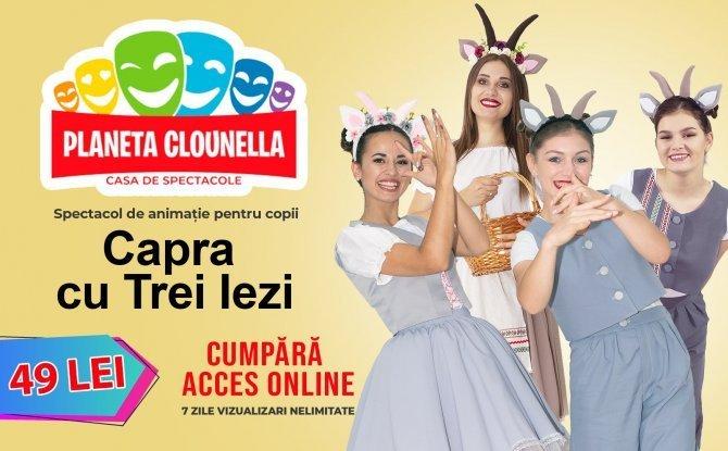 Capra cu Trei Iezi - Spectacol pentru Copii (Acces Bilet - 49 lei)