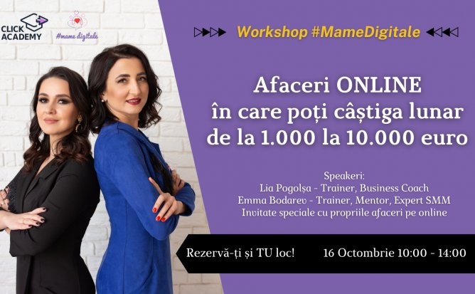 Afaceri ONLINE din care poti castiga de la 1000 euro la 10.000 euro