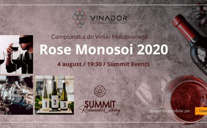 Campionatul de Vinuri Moldovenești. Ediția 3 - Rose Monosoi 2020