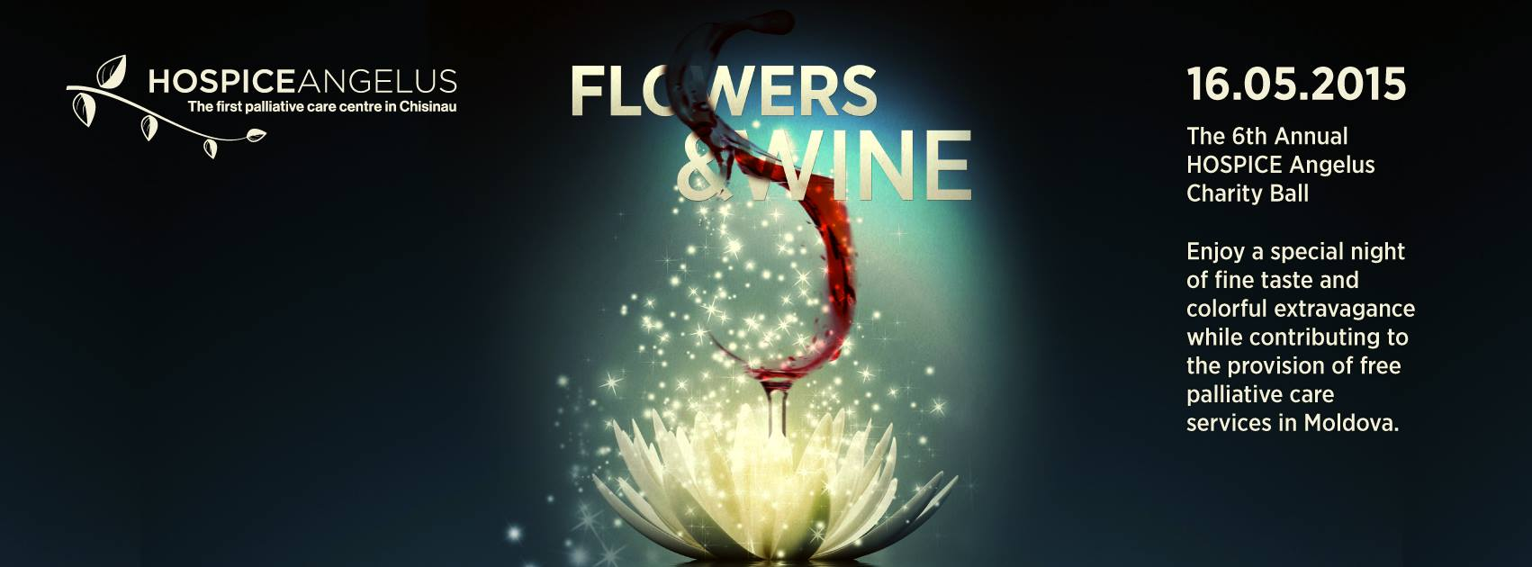 Flowers & Wine - THE 6TH ANNUAL HOSPICE ANGELUS CHARITY BALL