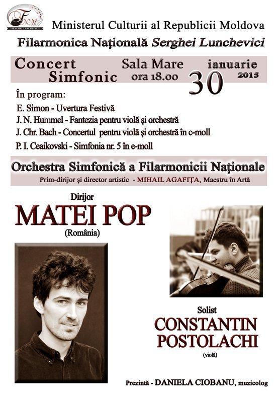 Concert simfonic cu Orchestra Simfonica a Filarmonicii Nationale