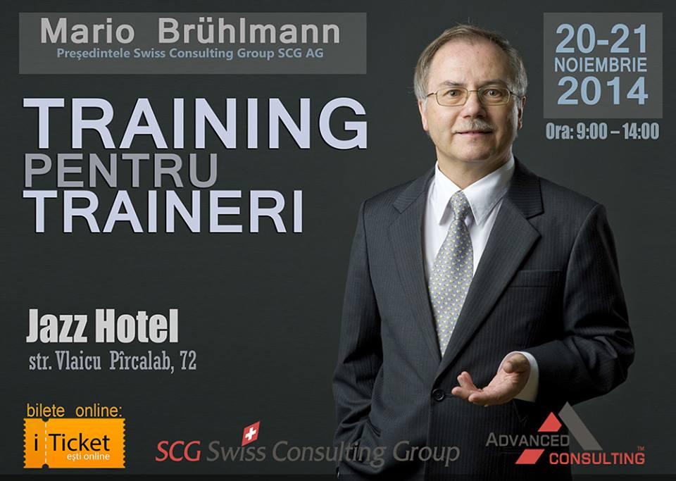 Training pentru Traineri cu Mario Bruhlmann(Elvetia)