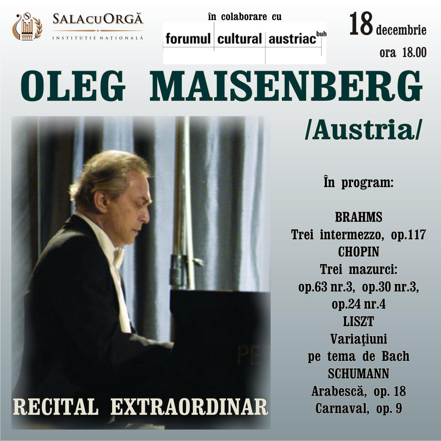 Pianistul Oleg Maisengerb - Austria