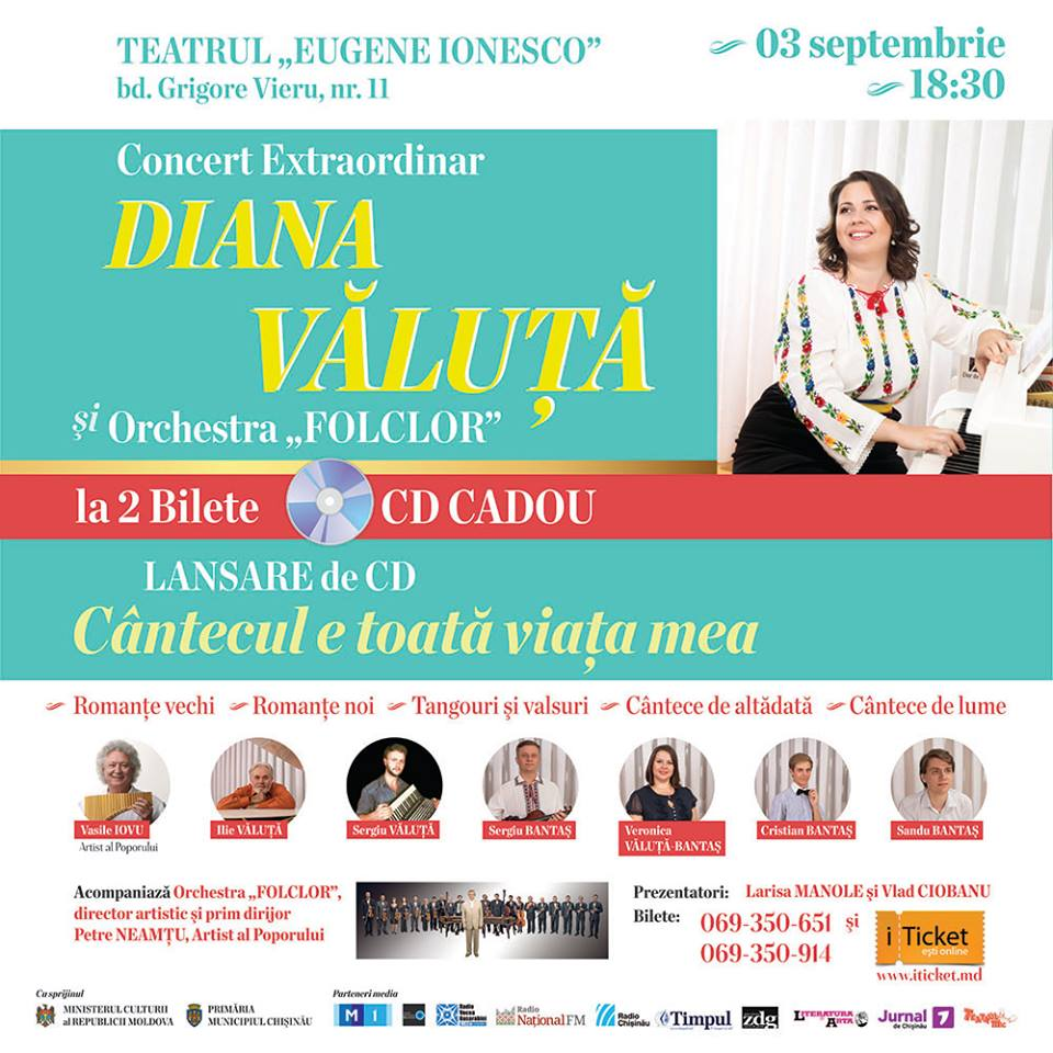 Diana Valuta - Concert extraordinar cu LANSARE de CD