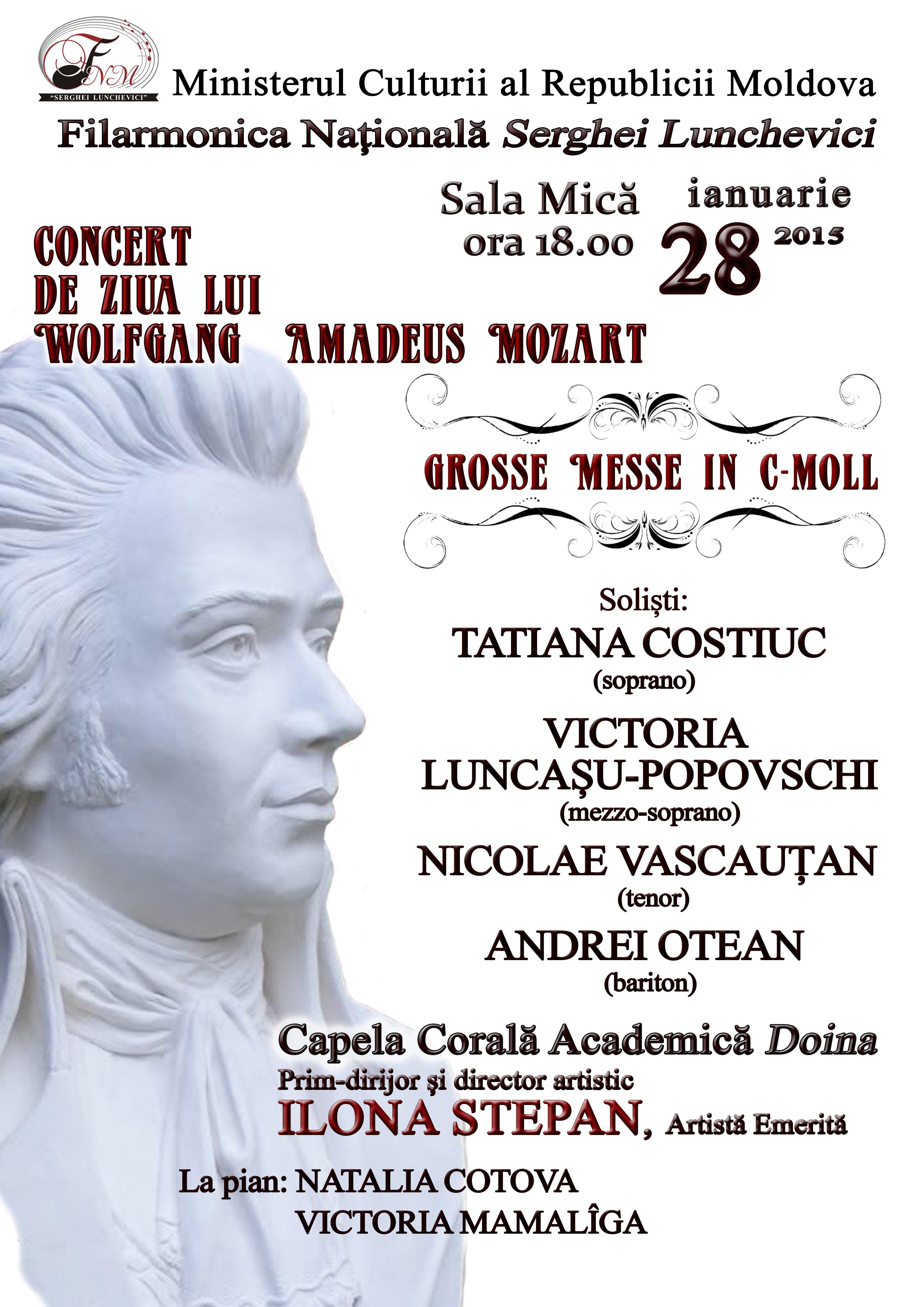 Concert de ziua lui W.A.Mozart