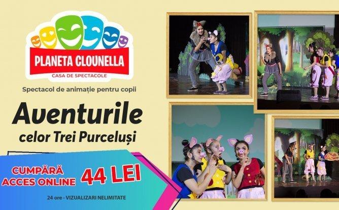 Aventurile celor Trei Purcelusi - Spectacol pentru Copii (Acces Bilet - 44 lei/24 ore)