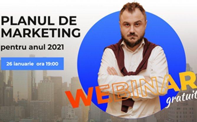 Webinar gratuit: Planul de marketing pentru anul 2021
