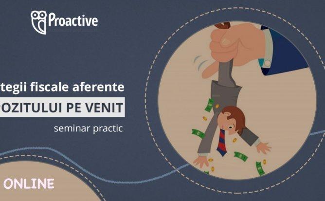 "Seminar practic ""Strategii fiscale aferente impozitului pe venit"" pentru contabili și directori"
