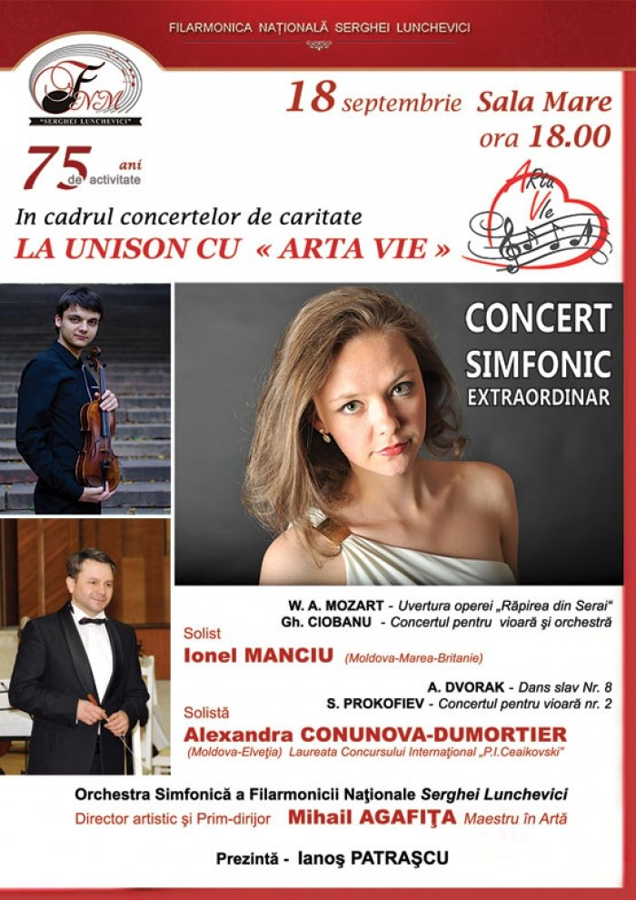 Concert simfonic cu Ionel Manciu si Alexandra Conunova-Dumortier