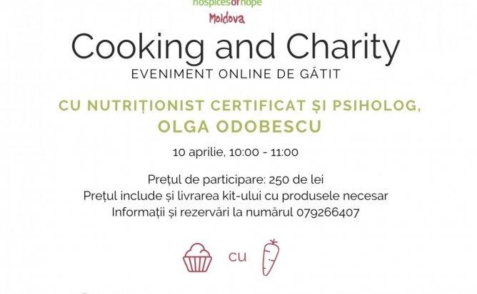 Cooking and Charity cu nutriționist certificat și psiholog, Olga Odobescu