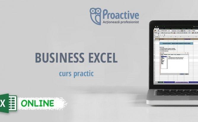 Business Excel - Curs Practic ONLINE