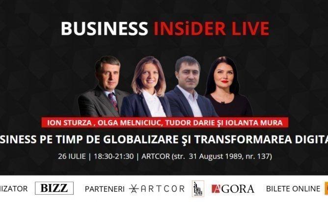 BUSINESS INSiDER LIVE cu Ion Sturza, Olga Melniciuc, Tudor Darie si Iolanta Mura
