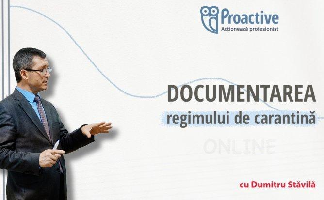 Documentarea regimului de carantina si controlul de stat privind respectarea legislatiei muncii