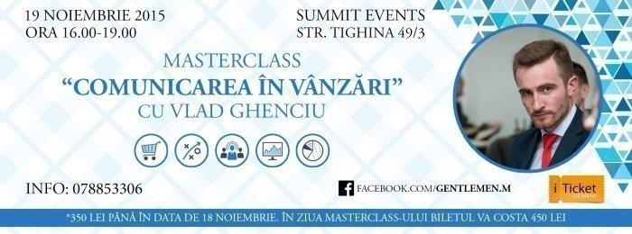 Masterclass: Comunicarea in vanzări cu Vlad Ghenciu