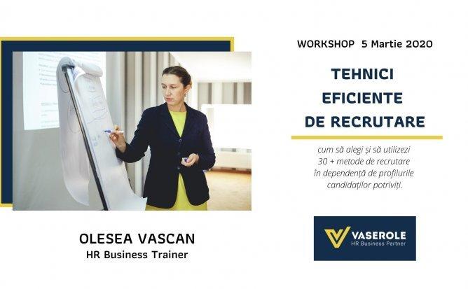 Workshop: Tehnici Eficiente de Recrutare