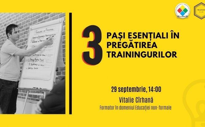 3 pasi esentiali în pregătirea trainingurilor