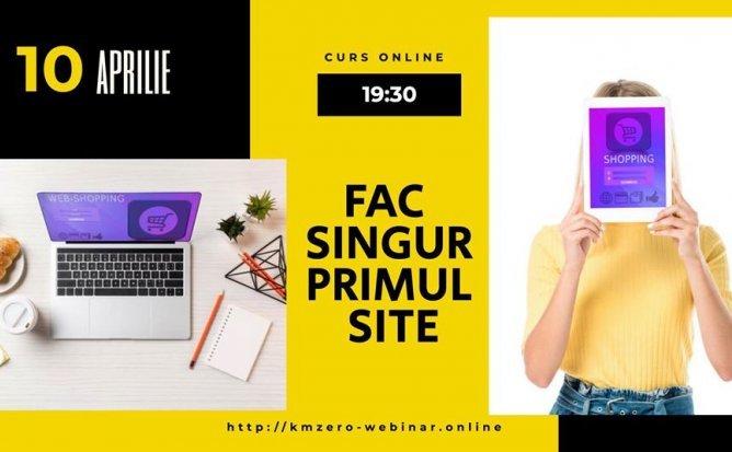 Fac Singur Primul Site - KmZero Curs Intensiv Online | Editia 1