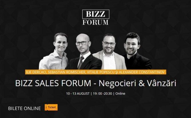 BIZZ SALES FORUM - Negocieri si Vanzari