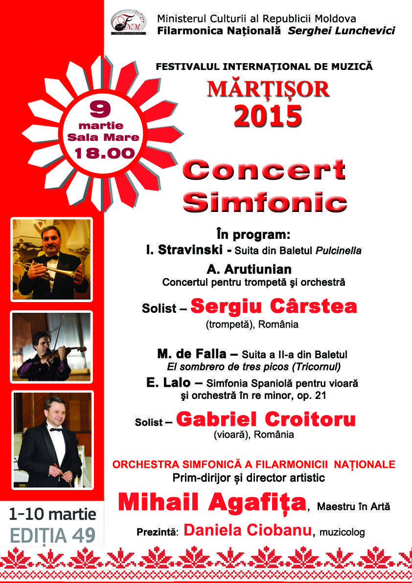 Concert simfonic cu Mihail Agafita
