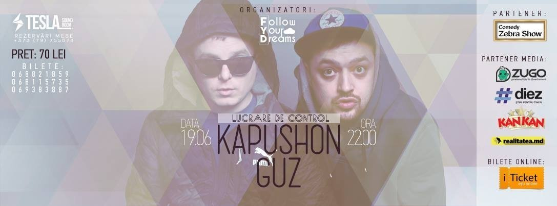Guz si Kapushon in club Tesla