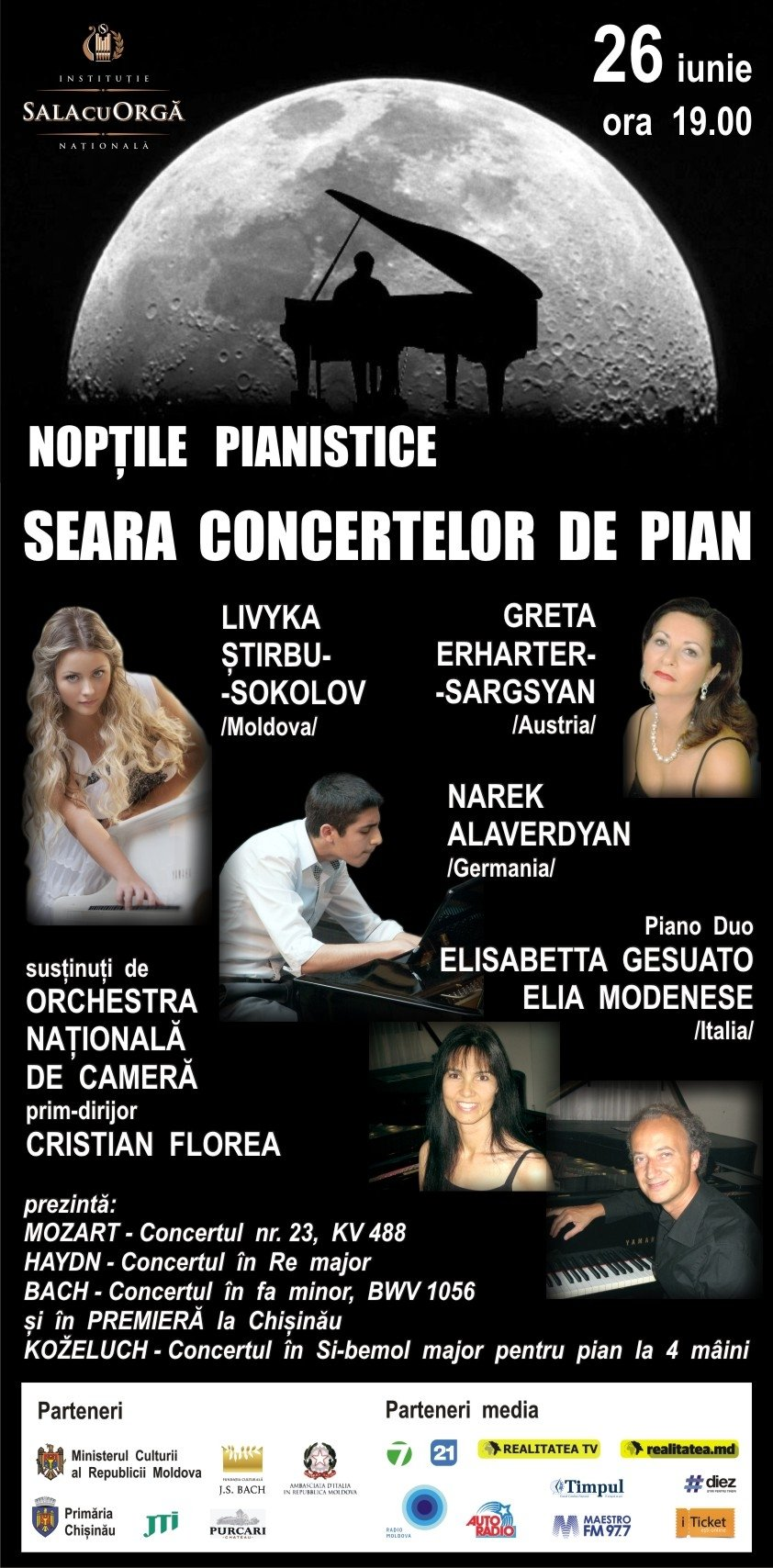 Noptile pianistice cu Orchestra Nationala de Camera