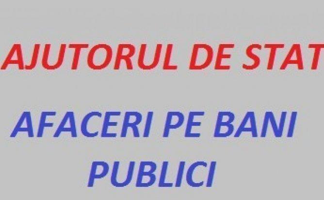 AJUTORUL DE STAT - AFACERI PE BANI PUBLICI