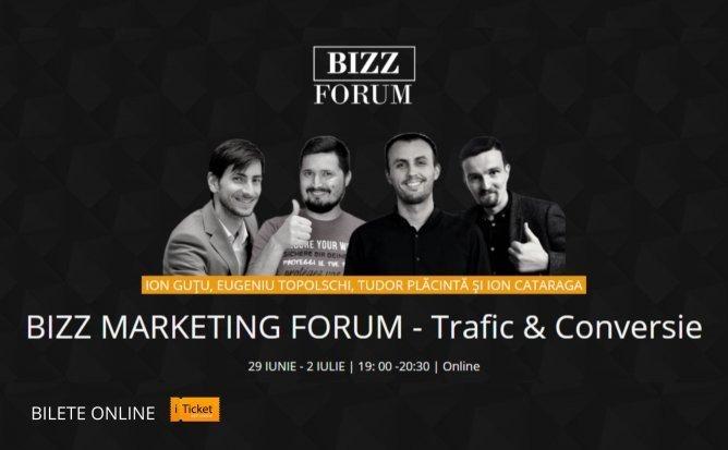 Bizz Marketing Forum Online - Trafic & Conversie