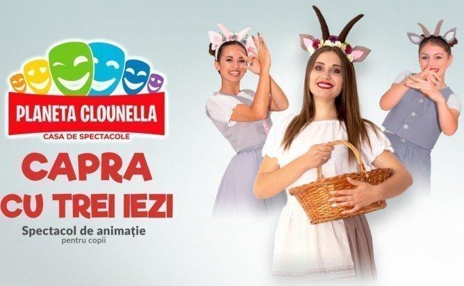 Capra cu trei iezi - Spectacol Interactiv de Animatie pentru Copii | Noiembrie| +3