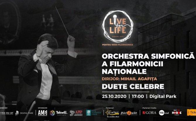 LIVE FOR LIFE. DUETE CELEBRE CU ORCHESTRA SIMFONICĂ A FILARMONICII NAȚIONALE