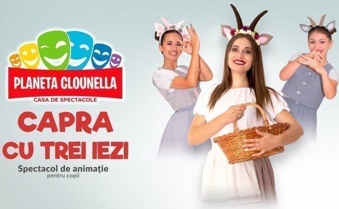 Capra cu Trei Iezi - Spectacol Interactiv de Animatie pentru Copii |Septembrie |+3