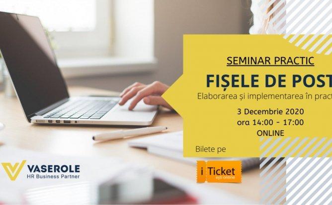 Seminar Practic: Fișe de Post. Elaborarea și Implementarea în practică