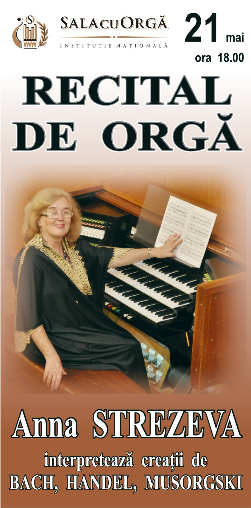recital de orga cu anna strezeva