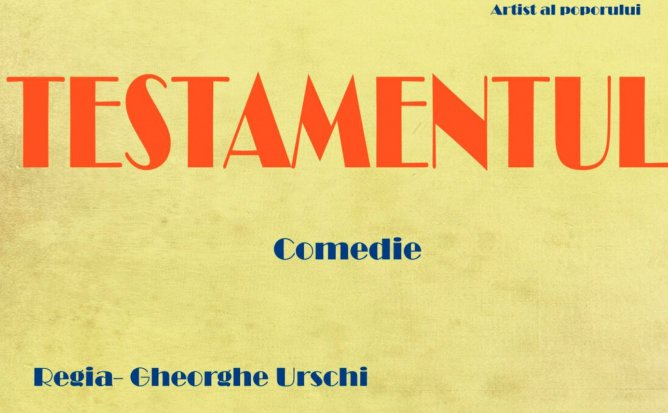 """""""Testamentul"""" de Gheorghe Urschi"""