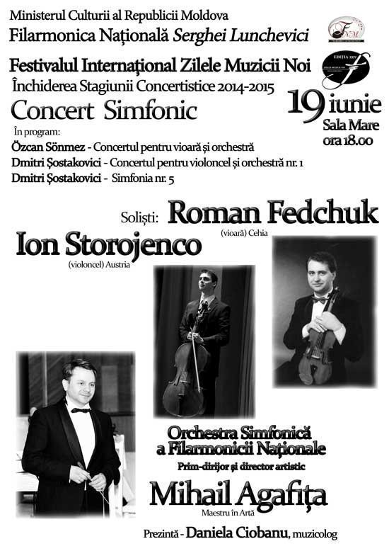 Concert simfonic. Inchiderea stagiunii concertistice 2014-2015