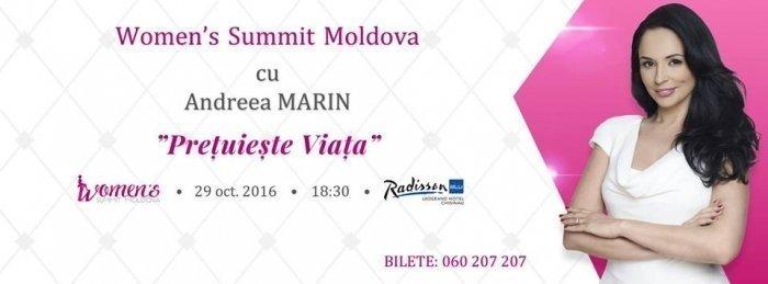 Women Summit Moldova cu Andreea Marin - Pretuieste Viata