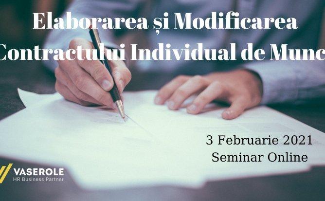 Elaborarea și Modificarea Contractului Individual de Muncă