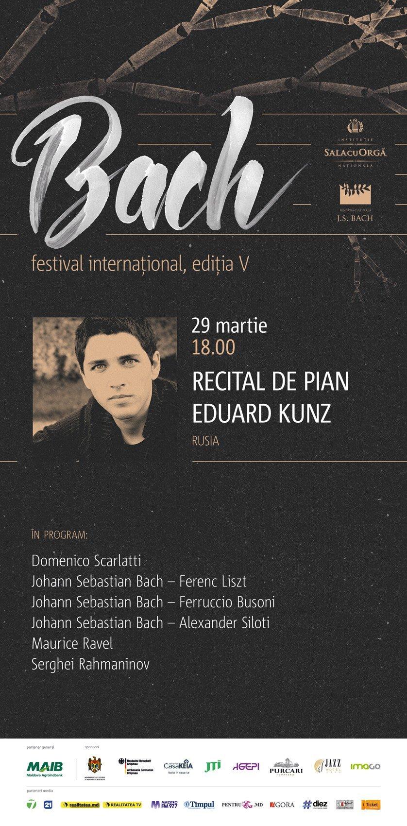 EDUARD KUNZ recital de pian