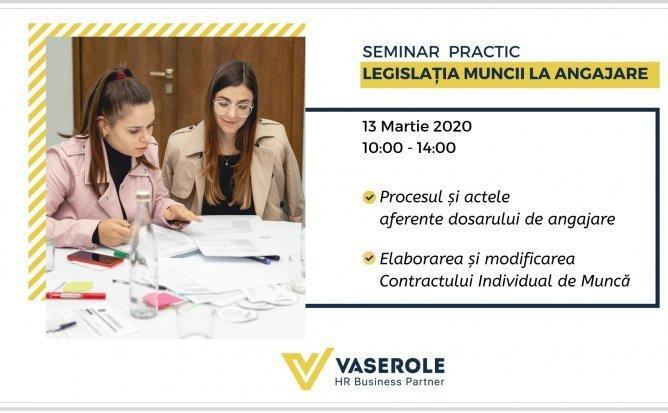 Seminar practic - Legislatia muncii la angajare