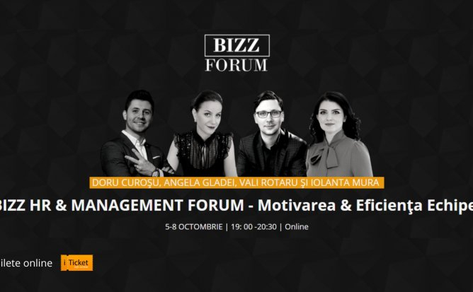BIZZ HR & MANAGEMENT FORUM - Motivare și Eficiența Echipei
