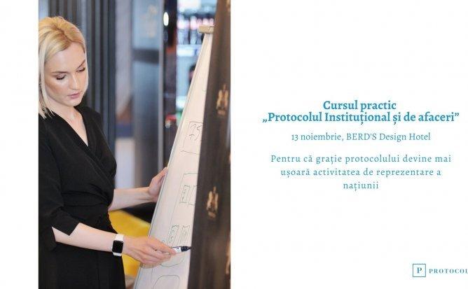 """Curs practic """"Protocolul Instituțional și de afaceri"""""""