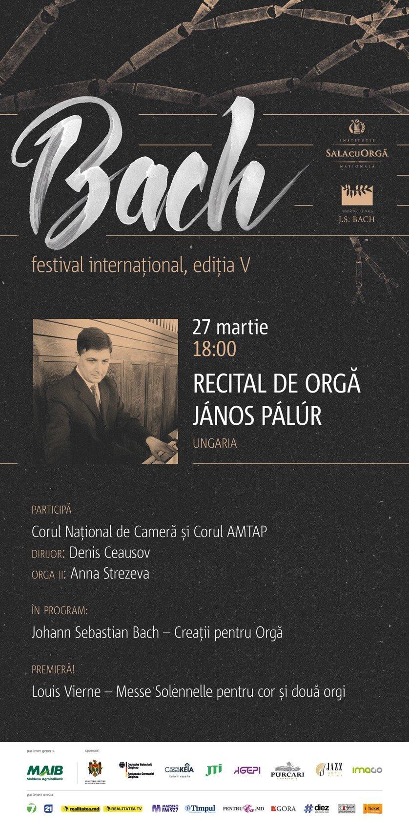 JANOS PALUR cu recital de orga