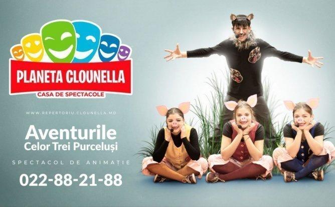 Aventurile celor Trei Purcelusi - Spectacol Interactiv de Animatie pentru Copii | APRILIE 2020 | +2