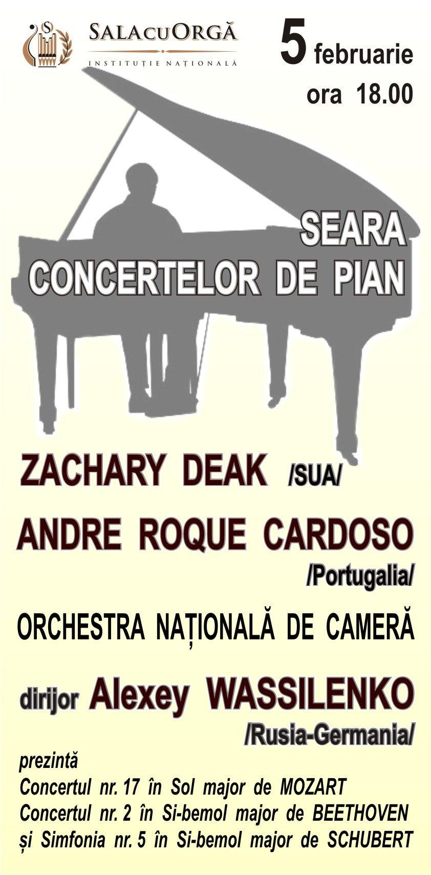 Seara concertelor de pian