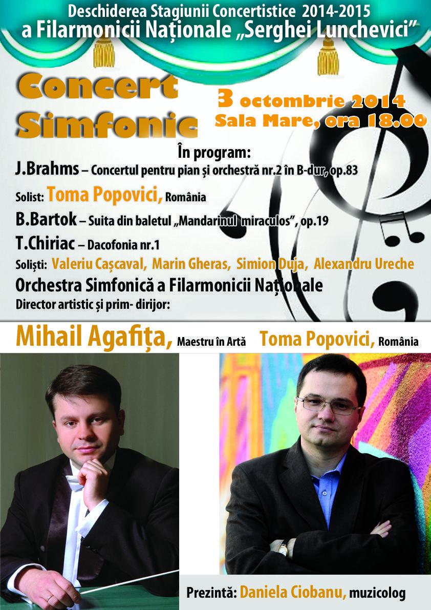Deschiderea Stagiunii Concertistice 2014-2015. Concert Simfonic